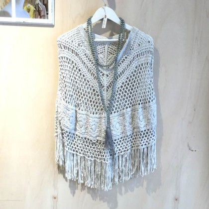 Poncho indie gray